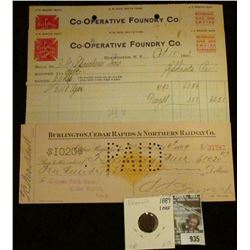 "935 _ Pair of Oct. 9 & 15, 1912 Letter head ""Red Cross Stoves & Ranges Co-operative Foundry Co. Roch"
