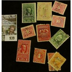 939 _ Group of Old U.S. Stock Transfer Documentary Stamps.