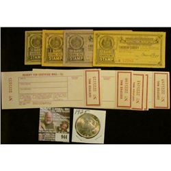 "944 _ Group of unused ""Receipt For Certified Mail---15c""; Four Piece Set of 1909 State of Missouri G"