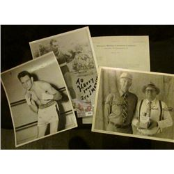 "945 _ Pair of 8"" x 10"" Black and white Boxing Photos, one of which is autographed ""To Harry from Fre"