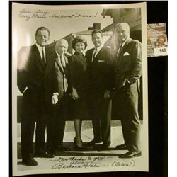 "948 _ 8"" x 10"" black and white autographed photo ""Dear Larry Perry Mason-How Sweet it was! ---our th"