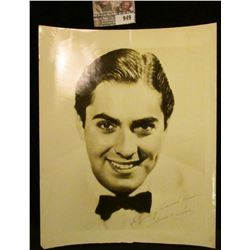 "949 _ 8"" x 10"" Black and white autographed photo ""To ""Young America"" Readers Tyrone Power""."