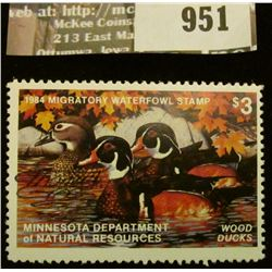 951 _ 1984 Minnesota Migratory Waterfowl Stamp Minnesota Department of Natural Resources depicting W