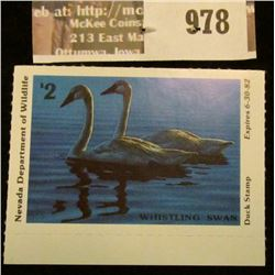 978 _ 1981 Nevada Department of Wildlife $2 Duck Stamp. Mint, NH, unsigned.
