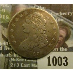 1003 _ 1834 Capped Bust Half Dollar. Fine.