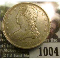 1004 _ 1839 Reeded Edge Capped Bust Half Dollar, VF 30.
