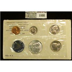 1008 _ 1965 Five-piece U.S. Special Mint Set with Silver Kennedy Half Dollar in original envelope as