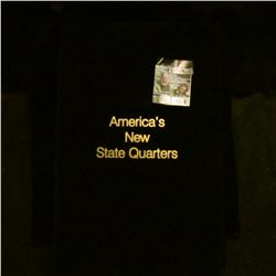 1016 _ Set of Fifty States 24K Gold Plated Statehood Quarter Set in a felt lined case. Each coin is