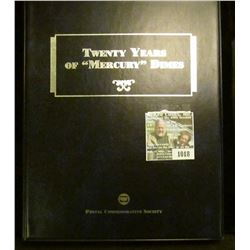 """1018 _ """"Twenty Years of """"Mercury"""" Dimes"""" 1924-45 all stored in a nice folder. Issued by the Postal C"""