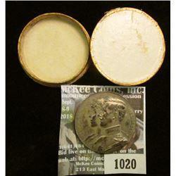 1020 _ 1914 Albert/ Elizabeth Belgium Relief Medal. Excellent Art work. Appears to be Silver. 35mm.