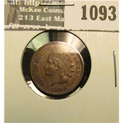 1093 _ 1908 U.S. Indian Head Cent, AU.