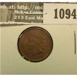 1094 _ 1908 U.S. Indian Head Cent, AU.