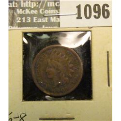 1096 _ 1908 S U.S. Indian Head Cent, Very Good.