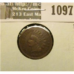 1097 _ 1908 S U.S. Indian Head Cent, Very Good.