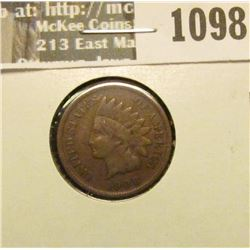 1098 _ 1908 S U.S. Indian Head Cent, Fine.