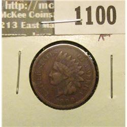 1100 _ 1908 S U.S. Indian Head Cent, Fine.