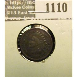 1110 _ 1909 P U.S. Indian Head Cent, Very Fine.