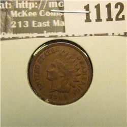 1112 _ 1909 P U.S. Indian Head Cent, Extra Fine.