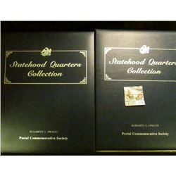 "1138 _ Postal Commemorative Society Album Volume 1 & Volume 2 ""Statehood Quarters Collection"", inclu"