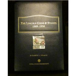 "1147 _ Postal Commemorative Society Album with ""The Lincoln Coins & Stamps 1909-1958"" With literatur"