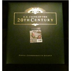 "1148 _ Postal Commemorative Society ""U.S. Coins of the 20th Century"" Album with Coins including: (7)"