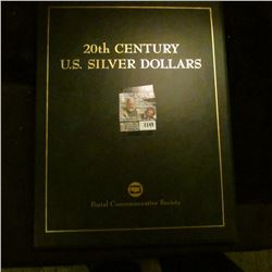 "1149 _ Postal Commemorative Society ""20th Century U.S. Silver Dollars"" in Album with 1921 D U.S. Mor"