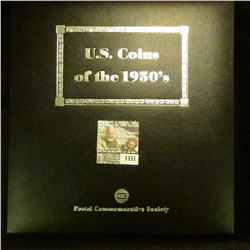 "1151 _ Postal Commemorative Society ""U.S. Coins of the 1950's Every Denomination issued for circulat"