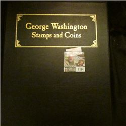 "1154 _ Postal Commemorative Society ""George Washington Stamps and Coins"" in a special vinyl holder."