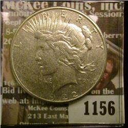 1156 _ 1922 S U.S. Peace Silver Dollar.