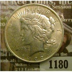 1180 _ 1922 P U.S. Peace Silver Dollar