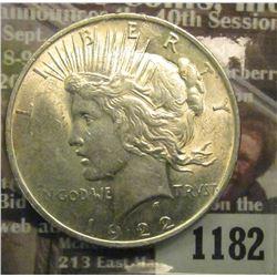 1182 _ 1922 P U.S. Peace Silver Dollar