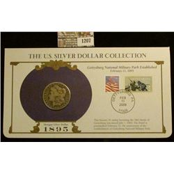 1207 _ 1895 New Orleans Mint Morgan Silver Dollar in a special protected cover with post marked comm
