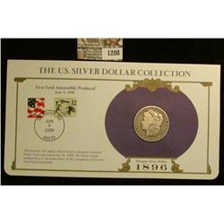 1208 _ 1896 New Orleans Mint Morgan Silver Dollar in a special protected cover with post marked comm