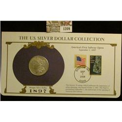1209 _ 1897 New Orleans Mint Morgan Silver Dollar in a special protected cover with post marked comm