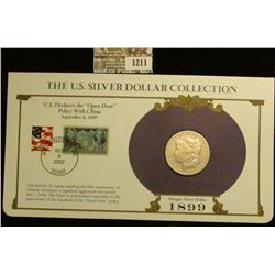 1211 _ 1899 New Orleans Mint Morgan Silver Dollar in a special protected cover with post marked comm