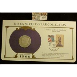 1212 _ 1900 New Orleans Mint Morgan Silver Dollar in a special protected cover with post marked comm