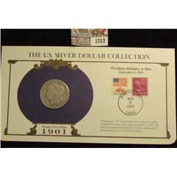1213 _ 1901 New Orleans Mint Morgan Silver Dollar in a special protected cover with post marked comm