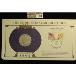 1214 _ 1902 New Orleans Mint Morgan Silver Dollar in a special protected cover with post marked comm