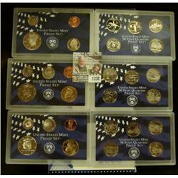 1232 _ 1999 S, 2001 S, & 2006 S U.S. Proof Sets. CDN Bid is $21.00.