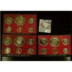 1238 _ 1974 S, 76 S, & 77 S Proof Sets. All original as issued. CDN bid is $20.25..