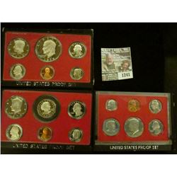 1241 _ 1978 S, 79 S, & 80 S Proof Sets. All original as issued. CDN bid is $15.25..