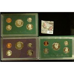 1253 _ 1986 S, 95 S, & 98 S U.S. Proof Sets. All original as issued. Coin Dealer Newsletter Bid Pric