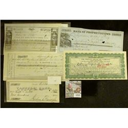 "1257 _ Oct. 24, 1857 Check drawn on ""Tanner' Bank"" for $200"" Catskill; ""Bank of Prophetstown, Illino"