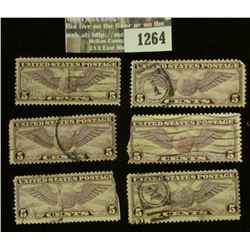 1264 _ Pack of Six Scott C12 Stamps.