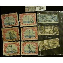 1265 _ Pack of Scott C7, (2) C8, & (6) C11 U.S. Stamps.