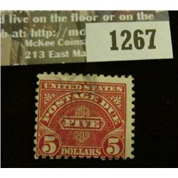 1267 _ $5 Postage Due U.S. Stamp.