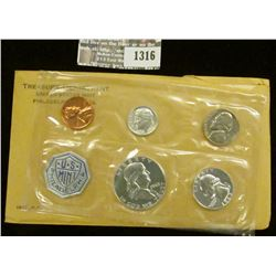 1316 _ 1963 U.S. Proof Set in original flat pack and cellophane as issued. (5 pcs.).