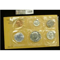 1328 _ 1964 U.S. Proof Set in original flat pack and cellophane as issued. (5 pcs.).