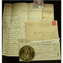 "1334 _ Ashville, N.C. 1900 Stamped cover with Patriotic Post Mark; North Carolina Map Card; 1881 ""Tr"