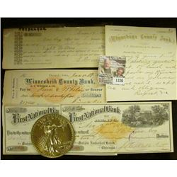 1336 _ June 19, 1857 Promissory note from Keosauqua, Iowa signed by S. Mercer, several of his family